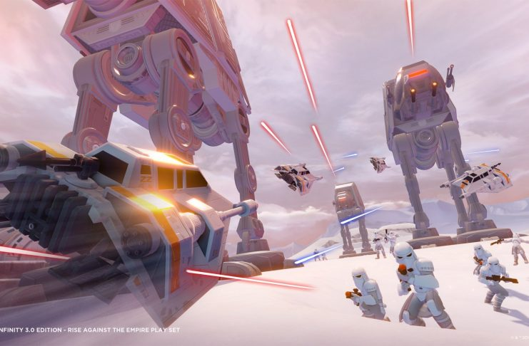 The battle of Hoth as seen in Disney Infinity